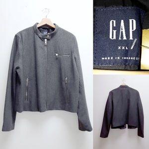 Gap Grey Jacket Zip Up Front XXL